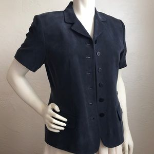 Chaus  New lined silk short sleeve jacket